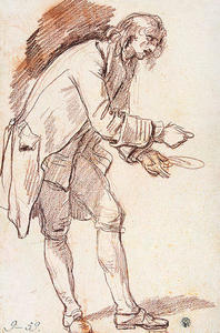 Study for 'The Paralytic'. Figure of a Young Man with a Plate in his Hand