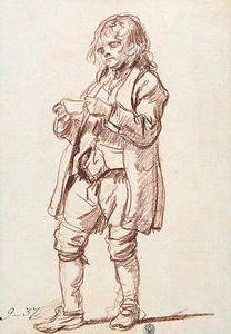 Study for 'The Paralytic'. Study of a Boy Carrying a Cup