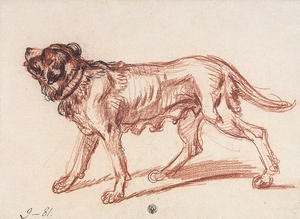 Study for 'The Paralytic'. Study of a Dog