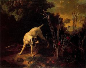 A Dog on a Stand