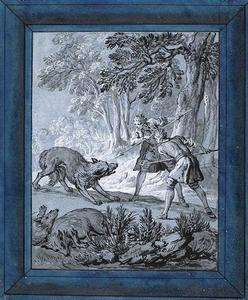 Men Attacking Wolves