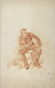 Portrait of Meissonier, sitting, dressed as a painter for the Army