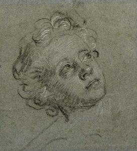 Head of a young Boy looking up to the right