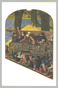 Medieval figures on a ballustrade