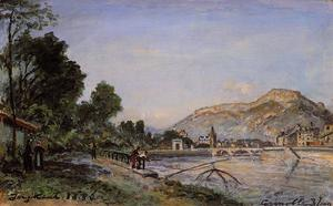 The Banks of the Isere at Grenoble in Spring