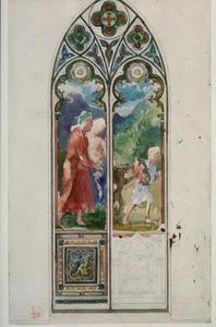 The Good Samaritan. Design for a Window, Trinity Church, Buffalo