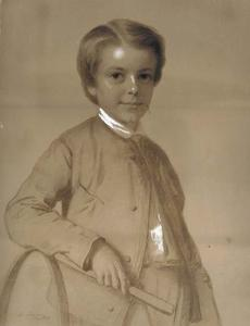 Portrait of a Young Boy with Hoop and Stick