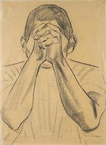 Figure with Hands Clasped before Face