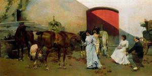 Scenes With People And Horses