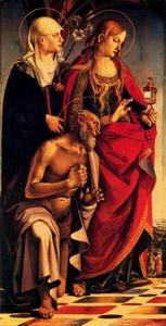 Saints Catherine of Siena, Mary Magdalen, and Jerome