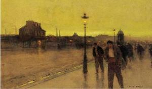 Strollers at dusk
