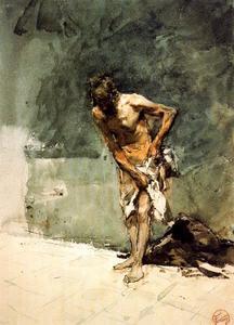 Half-naked man