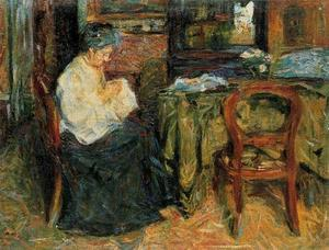 Interior with a mother who sews