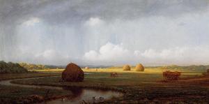 Sudden Shower, Newbury Marshes