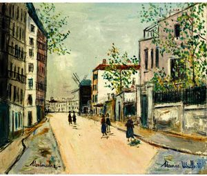 Rue Girardon at Montmartre