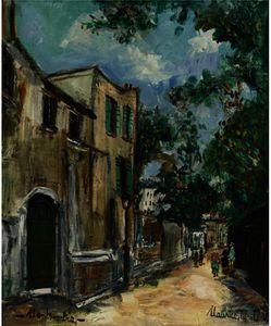 Rue Saint-Vincent À Montmartre
