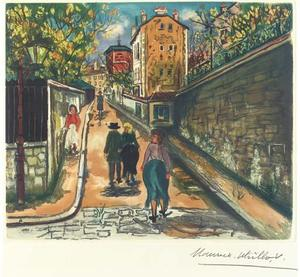 The Norvins street at Montmartre 1