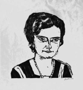 Портрет Of Frau Х . М .