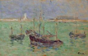 Boats off the port