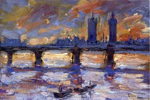 London, the Thames, Evening