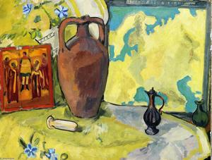 Still Life with Jug and Icon