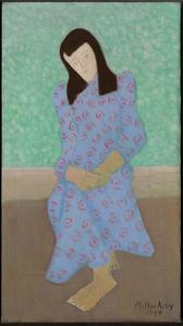 The Artist's Daughter in a Blue Gown