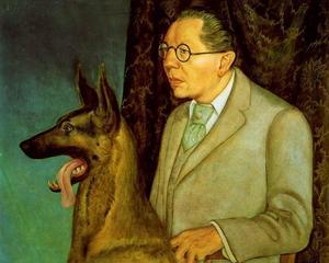 Hugo Erfurth with a dog