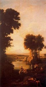 Copy of ''Moses saved from the waters of the Nile'' by Claude Lorrain