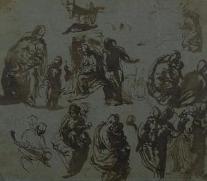 Various Sketches of the Madonna and Child