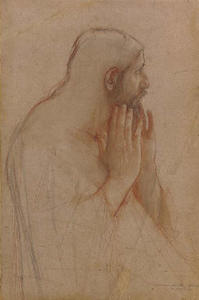 A Disciple, A Study for a Figure in The Supper at Emmaus