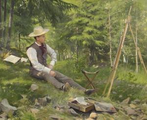 L artiste Peinture en plein air