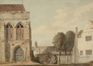 Part of the Banqueting Hall of the Royal Palace at Eltham