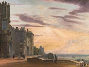The North Terrace of Windsor Castle looking west