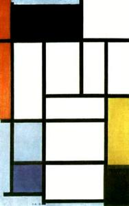 Composition with Red. Yellow and Blue