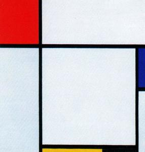 Composition, Composition with Red, yellow, blue and black