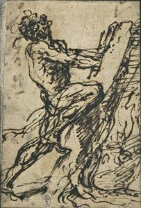 Milo of Croton, hands trapped in a tree trunk