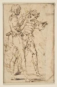 Two Standing Men Gesticulating