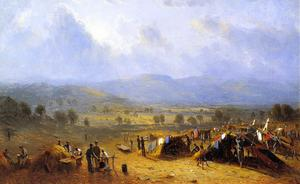 The Camp of the Seventh regiment near Frederick, Maryland