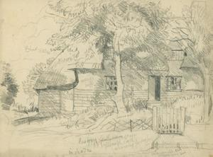 Compositional study for 'Clark's Cottage, Duton Hill
