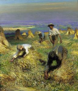 Harvest, tying the sheaves