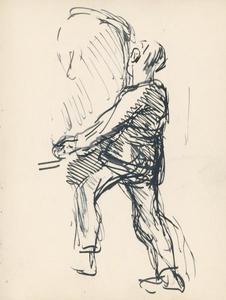 Study of a boy balancing a sack