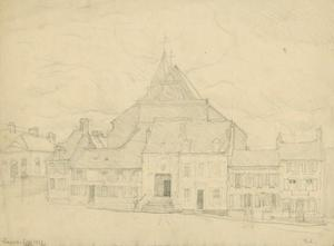 Study of a church in Samer, northern France