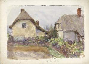 Thatched cottages and gardens