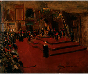 Study for ''The Visit of Queen Victoria to the International Exhibition, Glasgow''