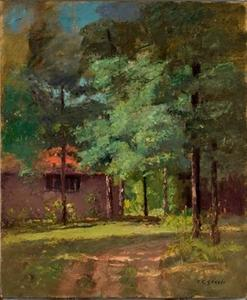 House Among Tall Trees (View of the Studio)
