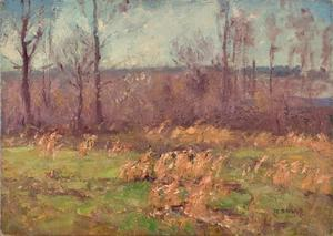Landscape (A Gray Day in the Orchard)