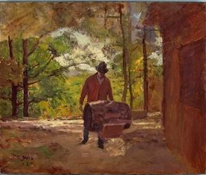 Man with a Wheel Barrow