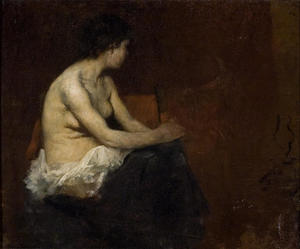 Munich Painting of Nude