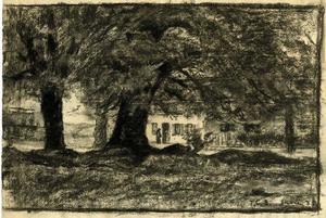 Trees and a house