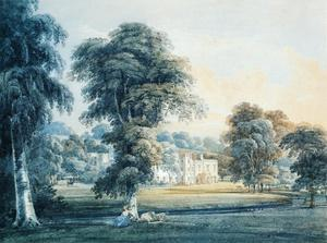 Chalfont House, Buckinghamshire, with a Shepherdess